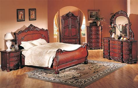 high end bedroom furniture sets 4 pc modern high end traditional cherry bed bedroom