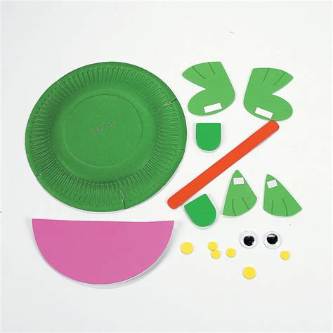 frog paper plate craft paper plate frog craft kit trading discontinued