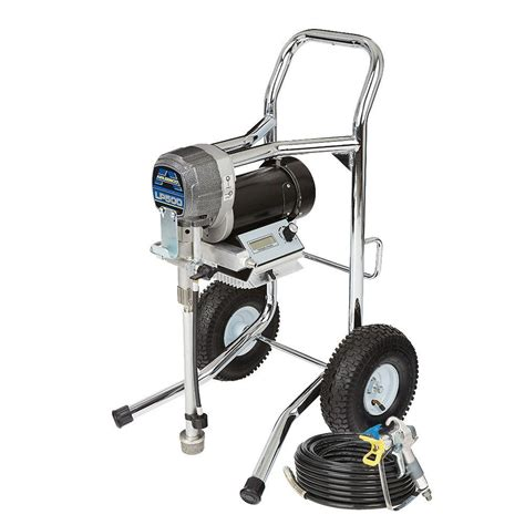 using a home depot paint sprayer graco truecoat 360dsp airless paint sprayer 16y386 the