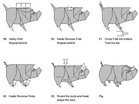 origami pig diagram origami pig diagram pig diagram and origami pig