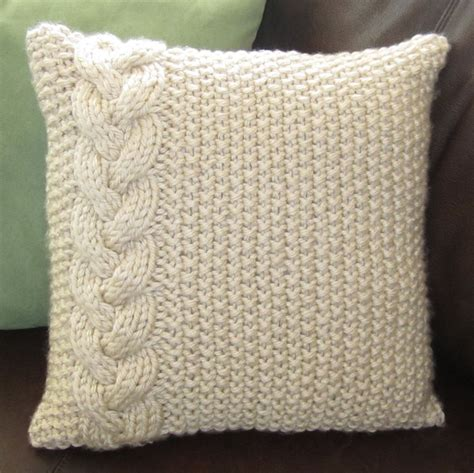 knitted pillows braided cable chunky knit pillow cover knitting