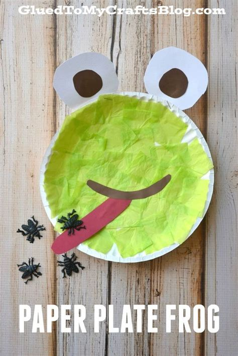 paper plate frog craft paper plate frog kid craft crafts so and kid