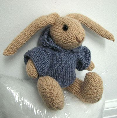 knit bunny pattern knitted rabbit attempt my house rabbit