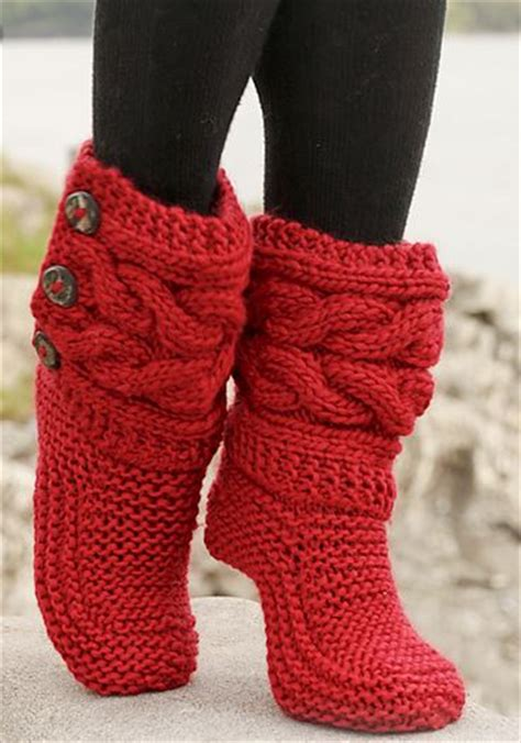 knitted shoes pattern free free knitted crochet slipper boots patterns
