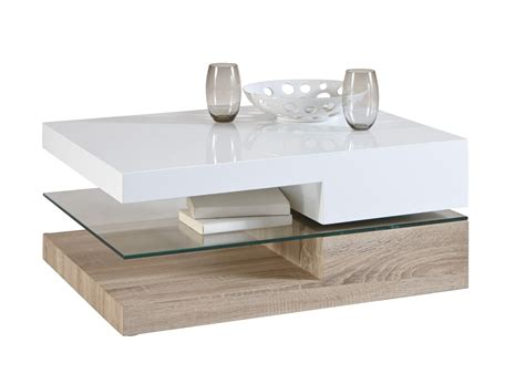 Table Basse Contemporaine Rectangulaire Bois Amp Verre