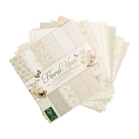 dove craft paper dovecraft floral muse designer paper 6 x 6in 150gsm