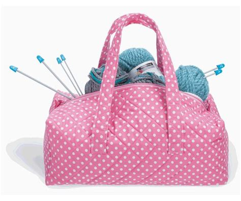 knitted bag milward knitting bag pink dot