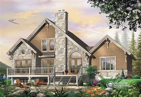 house plans with rear view the touchstone house plan 2957 affordable modern rustic cottage drummond house plans