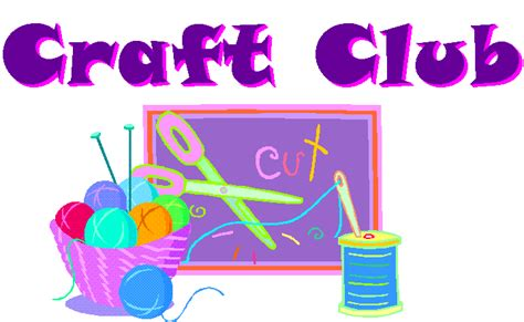 craft club for sports social club events notices