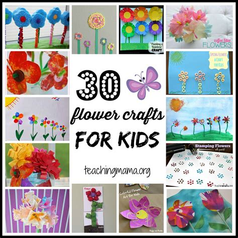 book craft for 30 flower crafts for