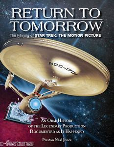 the motion picture book return to tomorrow of trek the motion picture