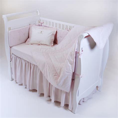 gordonsbury crib bedding gordonsbury unembroidered crib bedding pink
