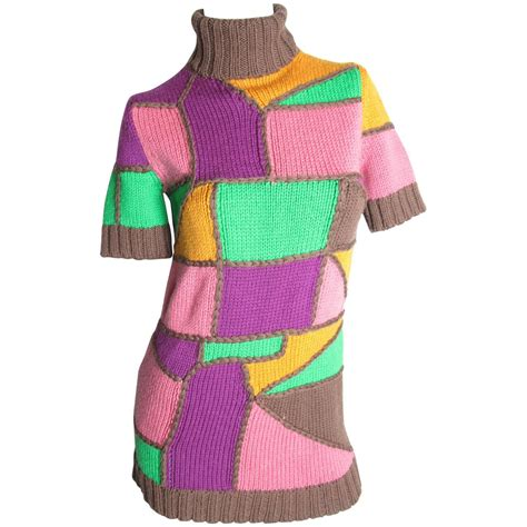 multi color sweater knitting pattern pucci multi colored patchwork knit sweater for sale at