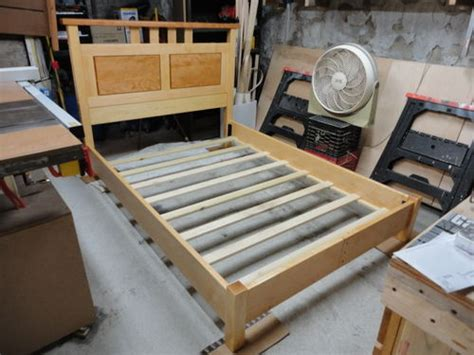 wood bed frame construction bed frame construction by chris p lumberjocks