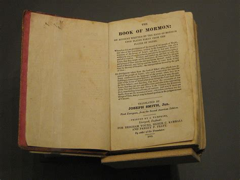 picture of the book of mormon documents that changed the world the book of mormon uw news