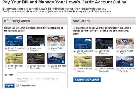 make a lowes credit card payment lowes consumer credit card login and bill pay