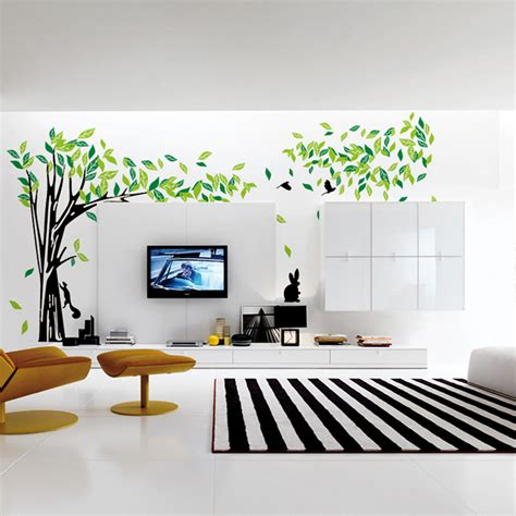 Contemporary Radiators For Living Room by Aliexpress Com Buy Large Green Tree Wall Sticker Vinyl