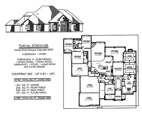 one story house plans with 4 bedrooms 4 bedroom house plans one story studio design gallery best design