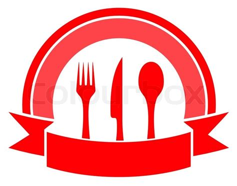 Luxury Log Home Plans red food icon on white background with cuisine utensil