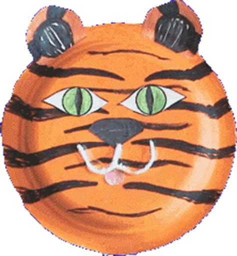 tiger paper plate craft tigers crafts