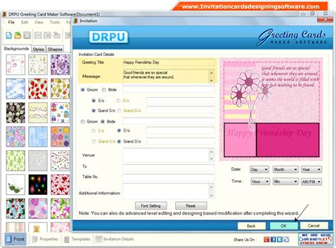 invitation card software screenshots of greeting cards designing software to