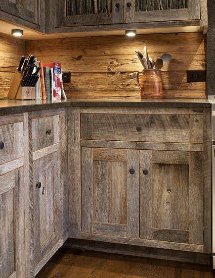 barn wood cabinets on barn siding barn wood