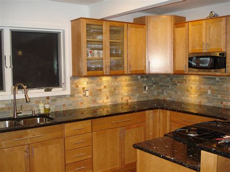 kitchen colors with oak cabinets and black countertops granite countertops and oak cabinets