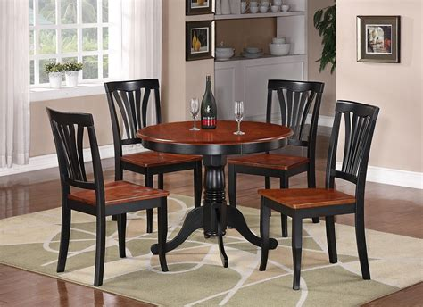 black kitchen table and chairs 5pc table dinette kitchen table 4 chairs black