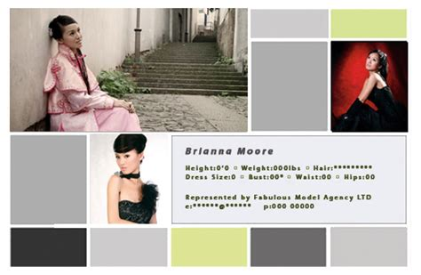 how to make a comp card for free cool zed cards get free comp card photoshop templates