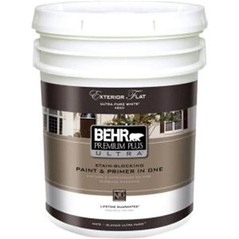 home depot paint for trim behr premium plus ultra 5 gal ultra white flat
