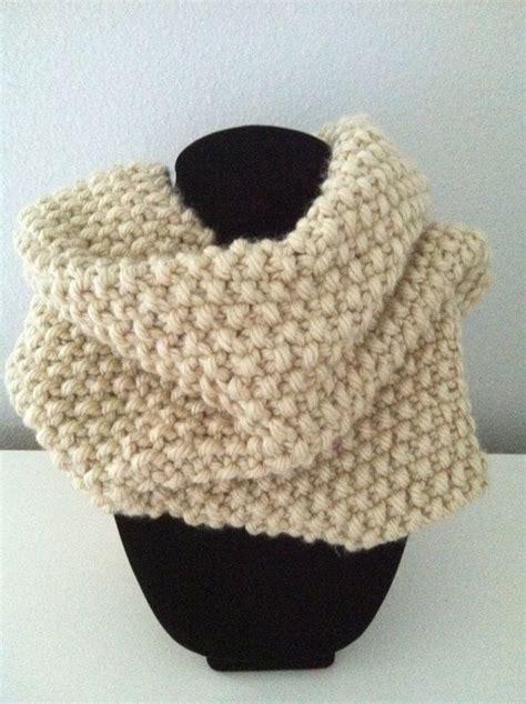popcorn stitch knit knitted infinity scarf cowl in popcorn stitch