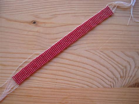 how to finish bead loom bracelet work in progress bead loom bracelet