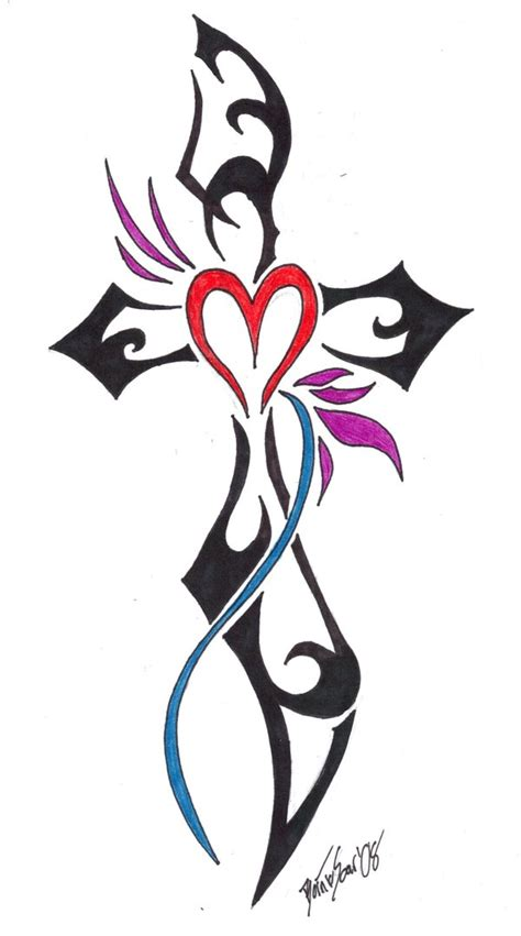 tribal cross tattoo by borntosoar on deviantart