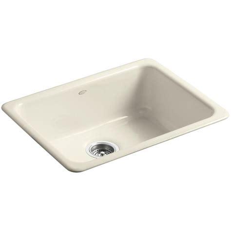 single bowl cast iron kitchen sink kohler iron tones drop in undermount cast iron 24 in