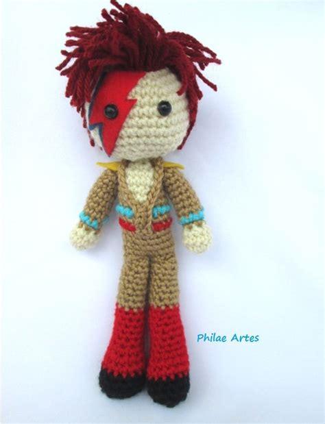 david bowie knitting pattern amigurumi crochet doll croche david bowie ziggy