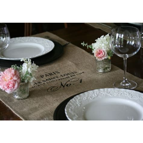 burlap table toppers browse and shop for white burlap table toppers