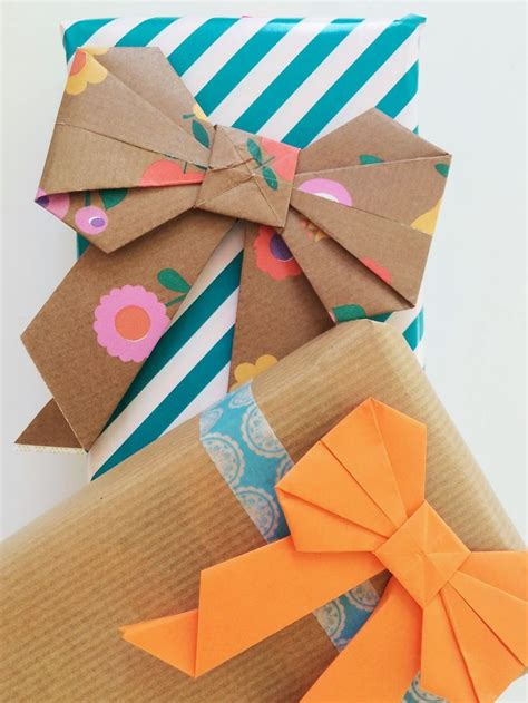 gift wrapping origami origami strik vouwen papier paper bows gift