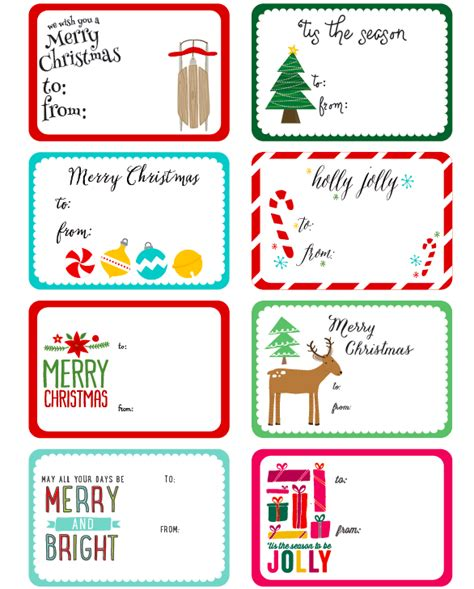 free christmas labels happy holidays with christmas