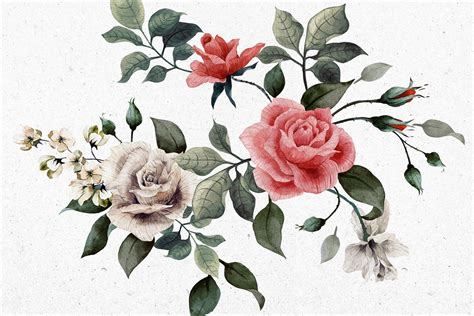 White Brick Wall Mural vintage red and white rose wallpaper murals wallpaper
