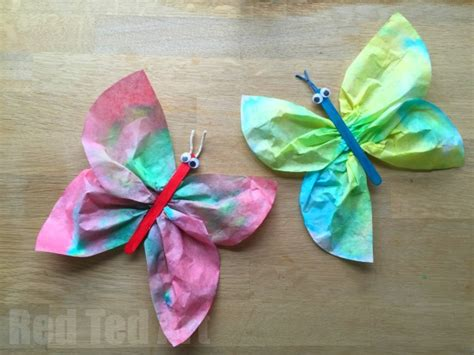 coffee filter crafts for coffee filter butterfly crafts for preschoolers obqvi