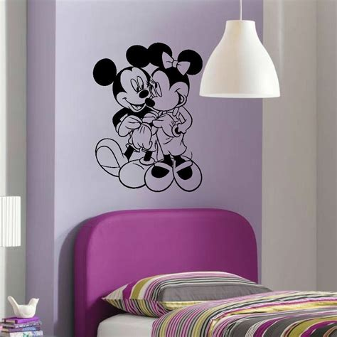 large disney wall stickers large childrens walt disney minnie mickey mouse wall