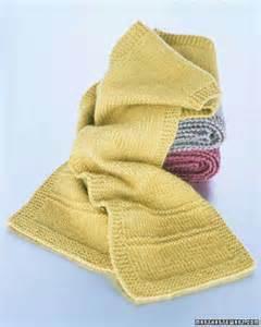 how to knit a simple scarf basic scarf pattern martha stewart