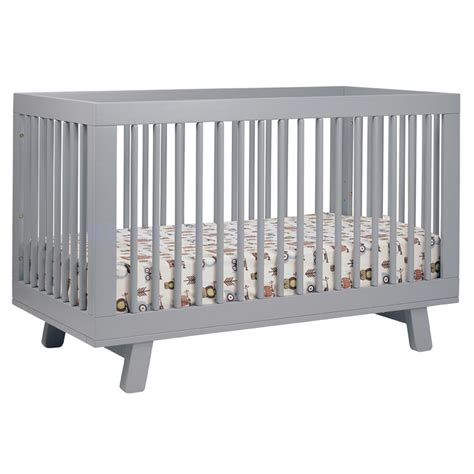 grey convertible crib grey hudson convertible crib by babyletto