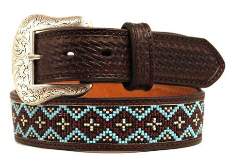 beaded western belts nocona western mens belt basket beaded inlay embossed