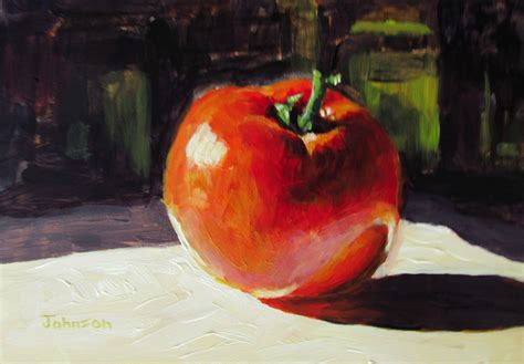 acrylic painting fruit by keith johnson new painting quot tomato quot