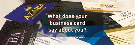 what makes a business card stand out what does your business card say about you admiral