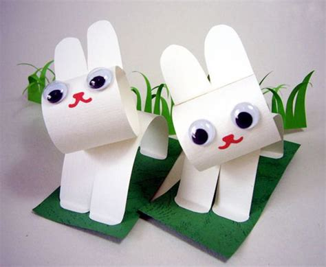 craft with paper paper bunny craft diy easter easter