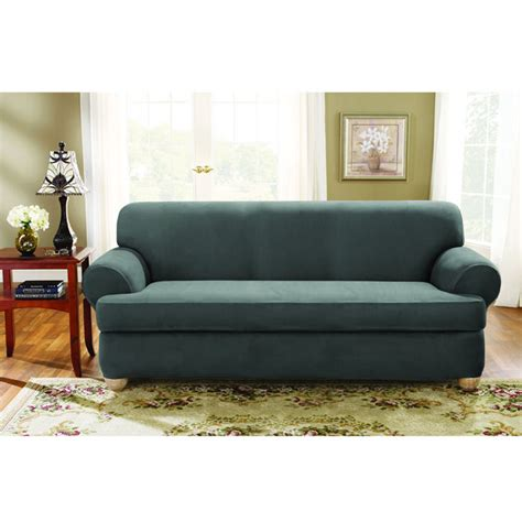 sure fit stretch suede sofa slipcover sure fit stretch suede sofa 2 t cushion slipcover
