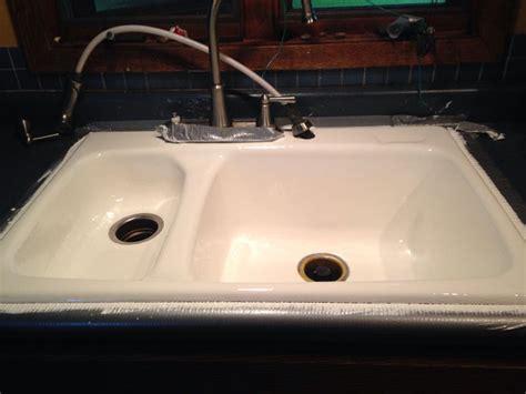 refinishing kitchen sinks porcelain kitchen sink refinish remodeling ideas