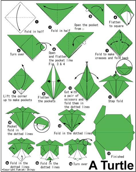 origami insructions how to do origami how to make origami turtle